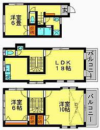 [一戸建] 福岡県春日市光町2丁目 の賃貸【/】の間取り
