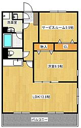 ルプソアール・ドゥー[3階]の間取り