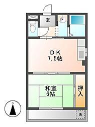 サンハイツ高蔵[2階]の間取り