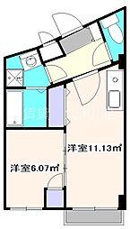 西武国分寺線 東村山駅 徒歩3分の賃貸マンション 3階1DKの間取り