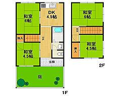 [一戸建] 兵庫県伊丹市野間5丁目 の賃貸【/】の間取り