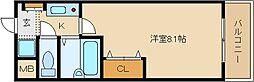 メゾンドールヤマヒデ 参番館[1208号室]の間取り
