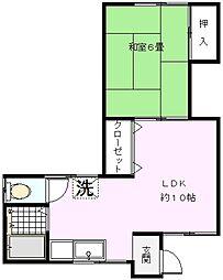 松見町永島荘[104号室]の間取り