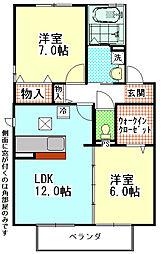 Villa・RyutakuIII[2階]の間取り