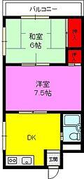 富尾ハイツ[4階]の間取り