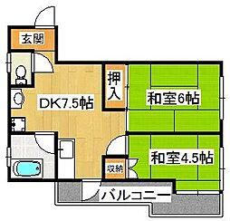 平田第二マンション[303号室]の間取り