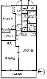 ディアハイム飯田橋 9階2SLDKの間取り