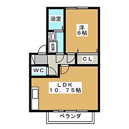 パラディーゾ A[1階]の間取り