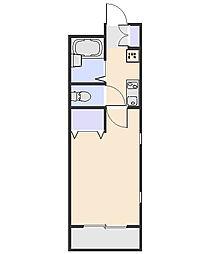 サニーハウス[302号室]の間取り