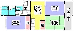 第1ビューハイツ[1階]の間取り