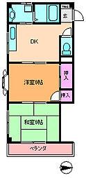 メゾンジュヌフォーレ[2階]の間取り