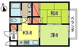 ファミールNARIMUNE[2階]の間取り