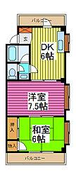 第3千葉マンション[1階]の間取り
