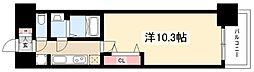 プレサンス丸の内リラティ 4階1Kの間取り