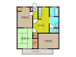 メゾン吉田II[203号室]の間取り
