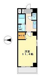カーアズール(K Azur)[4階]の間取り