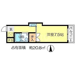 コートムーサ21[3階]の間取り