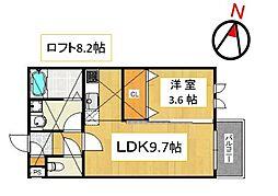 アンピオ次郎丸弐番館[105号室号室]の間取り