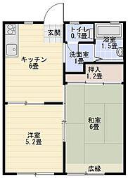 片瀬ファミリオ[2階]の間取り