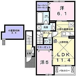 フェリス・FⅠ[2階]の間取り