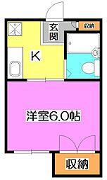 東京都練馬区石神井台1丁目の賃貸マンションの間取り
