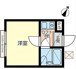 神奈川県横浜市青葉区千草台の賃貸アパートの間取り