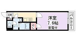 京阪本線 寝屋川市駅 徒歩8分の賃貸マンション 1階1Kの間取り