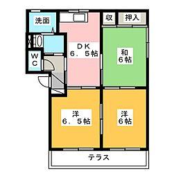 サンシャイン八丁 A棟[1階]の間取り