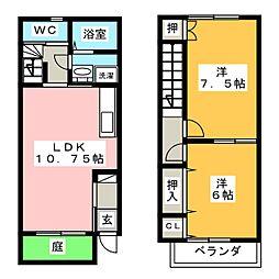 [テラスハウス] 愛知県江南市小郷町粟田木 の賃貸【/】の間取り