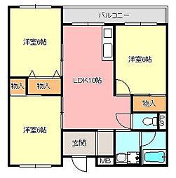 田中ハイツ[2階]の間取り