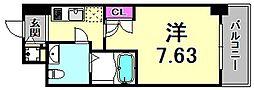 エス・キュート尼崎II 8階1Kの間取り