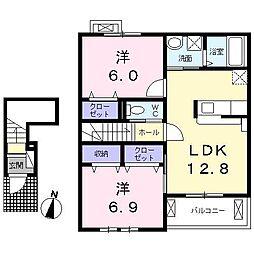 エルマーナRIII・B[2階]の間取り