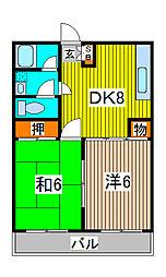 埼玉県さいたま市桜区栄和2丁目の賃貸アパートの間取り