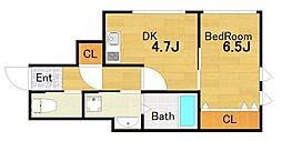 TAIHO クリスタルビル[6階]の間取り