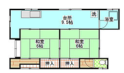 [一戸建] 茨城県日立市東町2丁目 の賃貸【/】の間取り