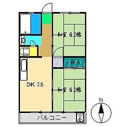 コーポスカイラーク[4階]の間取り
