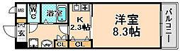 兵庫県伊丹市千僧4丁目の賃貸マンションの間取り
