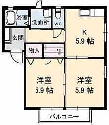 姫山フィルハ−モニ−シンフォニーNo7[D102号室]の間取り