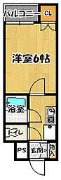 RX富田林[4階]の間取り