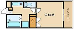 大阪府柏原市大字高井田の賃貸マンションの間取り