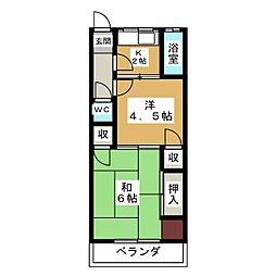 松亀荘[1階]の間取り