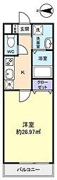 ディオネ八千代台[1階]の間取り