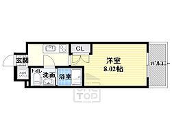 サムティ都島北通 2階1Kの間取り