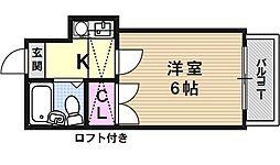 山科第3[206号室号室]の間取り