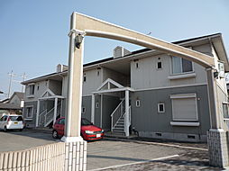 兵庫県高砂市米田町古新の賃貸アパートの外観