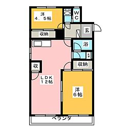 第2桜山ハイツ[2階]の間取り