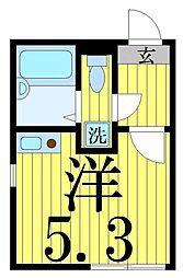 東京都足立区中川1の賃貸アパートの間取り