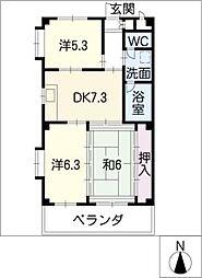 華寿美乃郷[3階]の間取り
