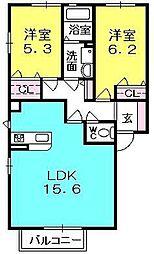 La casa 浦風[2階]の間取り