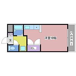 リバーサイド岡田[4階]の間取り